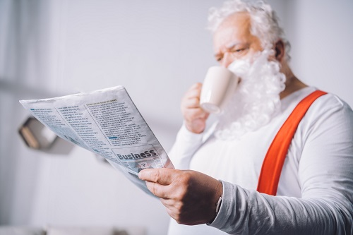 Santa reading Health Wonk Review